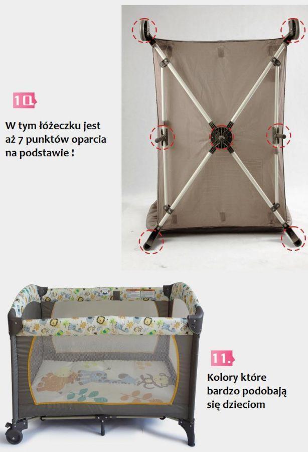 łóżeczko Turystyczne Dla Dziecka łóżko Premium 2 Piętrowe